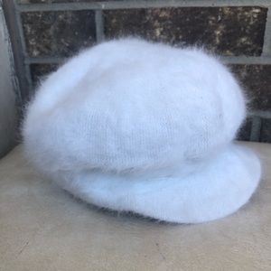 Accessories - Gatsby Wool and Rabbit Fur White Hat